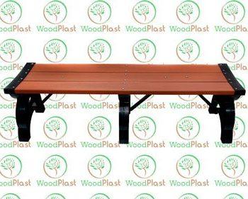 Banco de churrasqueira 15 cm em madeira plástica