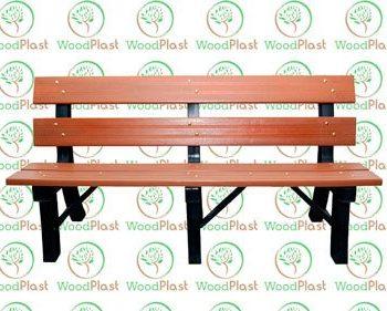 Banco de jardim 150mm em madeira plástica