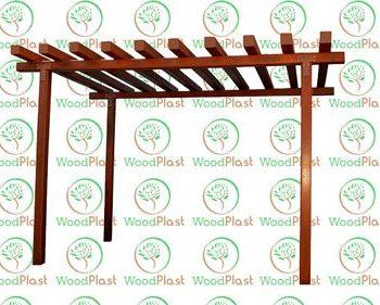 Pergolado em madeira plástica