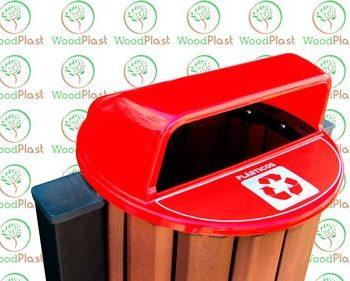 Tampa para lixeira em madeira plástica