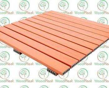 Deck 1x1mt em madeira plástica